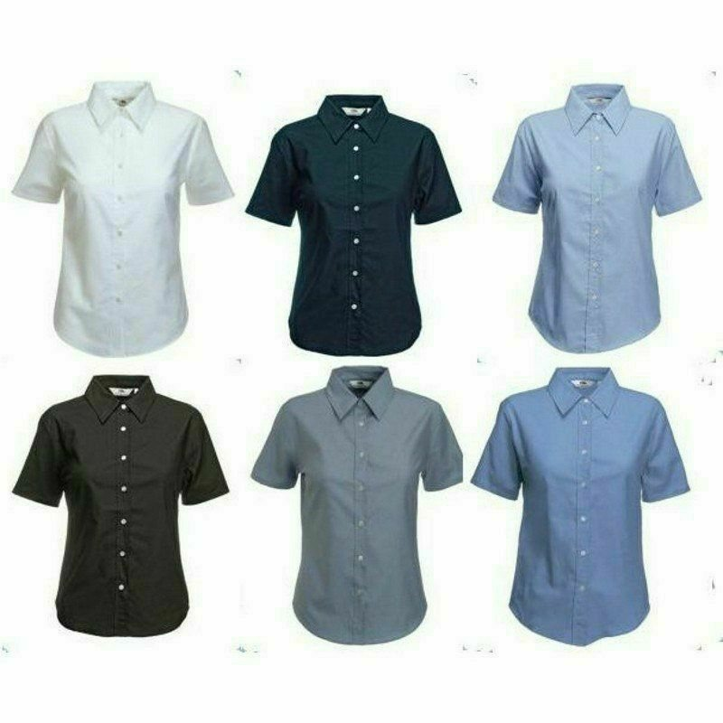 Fruit Lady-Fit Short Sleeve Oxford Shirt
