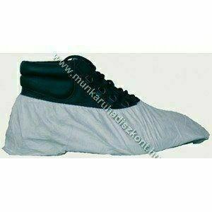 Tyvek cipővédő, bokagumis, fehér, antisztatikus, vegyszerálló