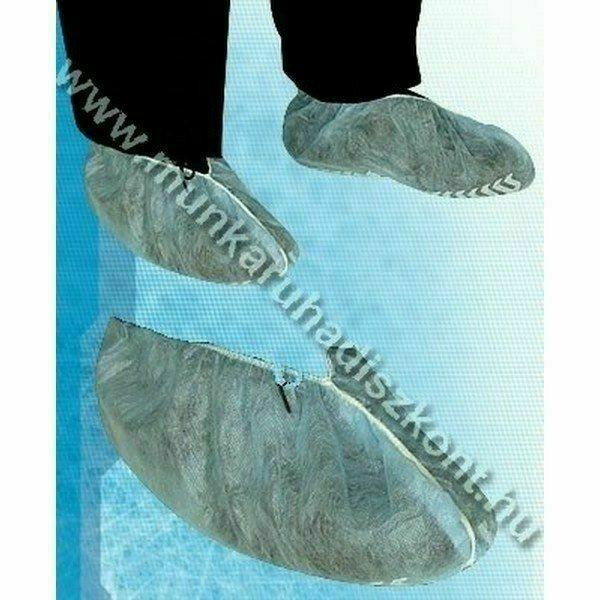 Csúszás biztos polipropilén cipővédő, kék 100 db/ doboz
