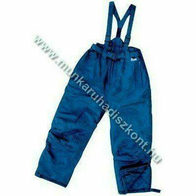 FINEK kék deréknadrág, vállpánttal - vízhatlan nadrág