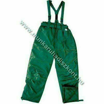 FINEK zöld deréknadrág, vállpánttal - vízhatlan nadrág