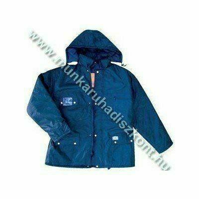 FLOPP kék, vízhatlan kabát, kapucnis télikabát