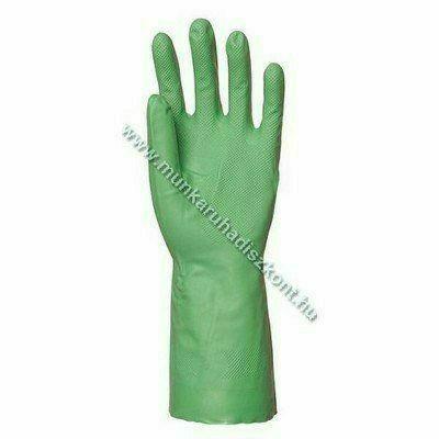 Nitril Plus zöld sav-, lúg-, olaj-, zsír- vegyszerálló kesztyű