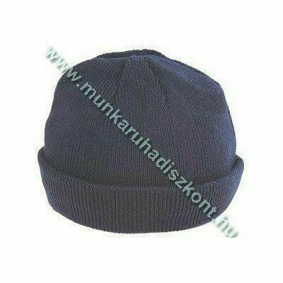 Thinsulate bélésű kötött akrilsapka, kék vagy fekete