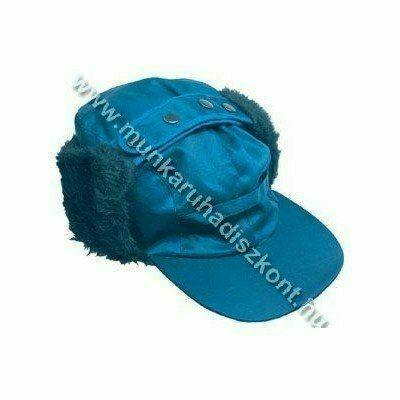 Beaver kék sapka, szőrmebéléses, vízhatlan
