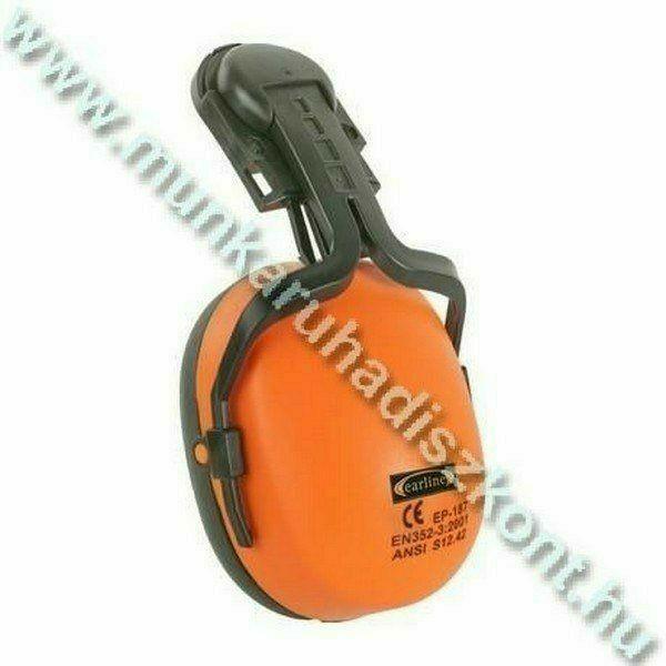 Earline sisakra szerelhető, jó láthatósági fluo narancs fültok