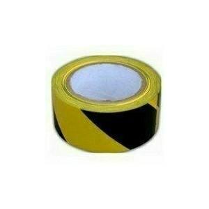 Öntapadós jelzőszalag, 5cm x 66m, sárga-fekete