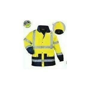 Airport jólláthatósági lélegző esőkabát, Pes/PU 170g/m2, sárga/k