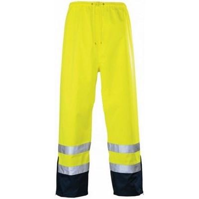 Airport jólláthatósági lélegző esőnadrág, Pes/PU 170g/m2, sárga/