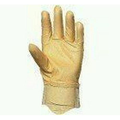 Puha színsertés kesztyű, fehér vászon kézhát csuklógumival