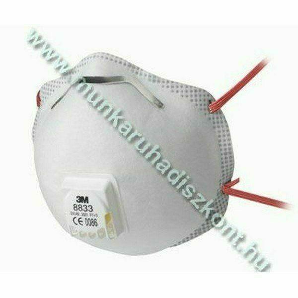 3M FFP3 R D szelepes részecskeszűrő fél álarc - 3M 8833