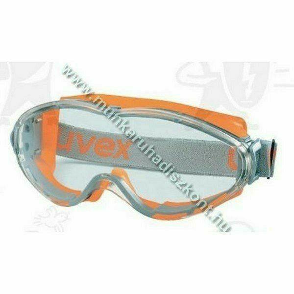 Uvex Ultrasonic gumipántos szemüveg, páramentes, vegyszerálló