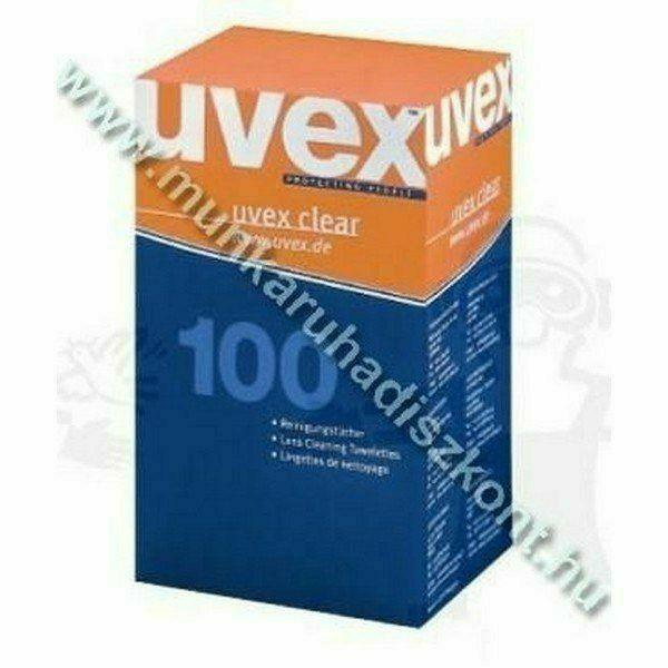 Uvex előnedvesített tisztító kendő minden lencséhez, 100 db