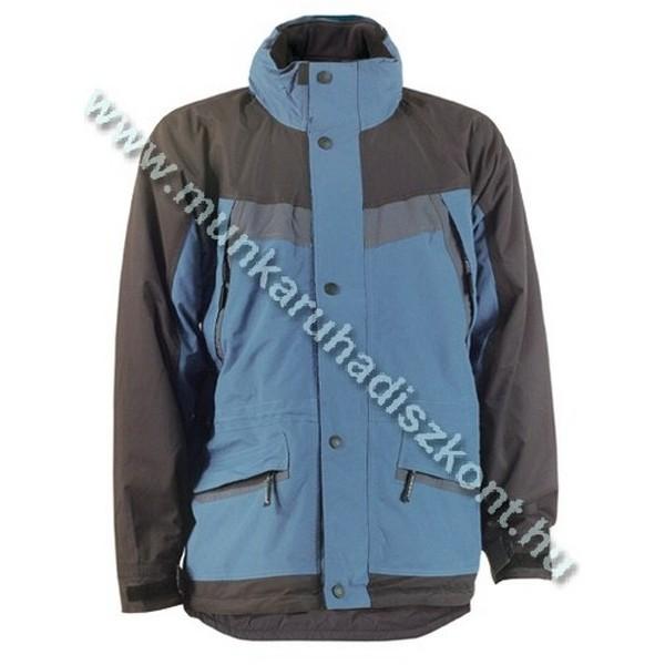 ARCTIC kék/fekete vitorlázókabát, polár bélés és kapucni