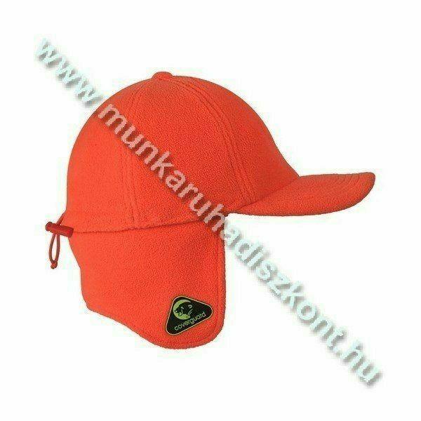 Covercap fluo téli baseball, lehajtható fülrész, 250g/m2 thermo
