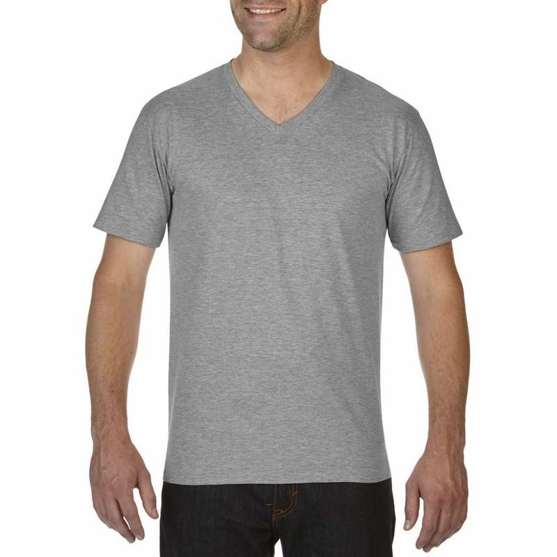 2b9bb2931b Gildan premium pamut férfi v-nyakú póló / RS Sport Szürke
