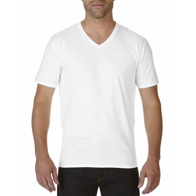 a6b5d5a2c7 Gildan prémium pamut férfi v-nyakú póló / Fehér