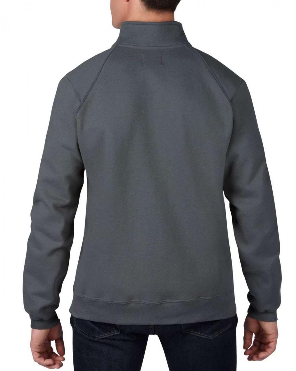 GILDAN PREMIUM PAMUT pulóver/ Szürke S, XXL kifutó cipzáras pulóver