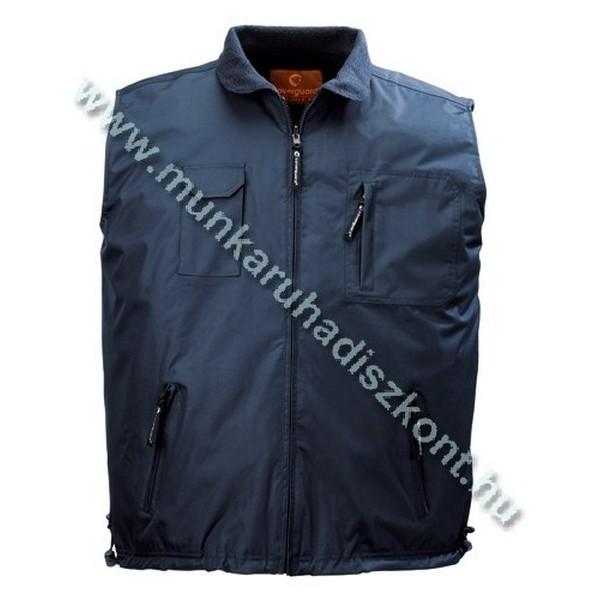 LEMAN sötétkék/kék kifordítható vízhatlan/polár mellény