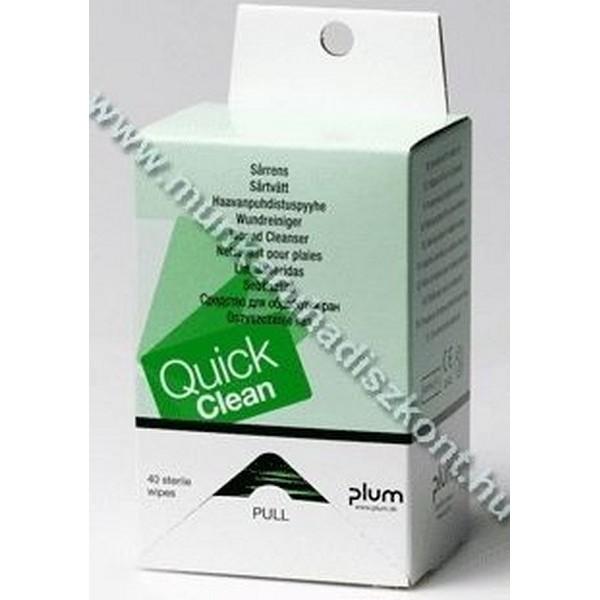 Plum Quick Clean 40 db nedves, steril sebtisztító kendő