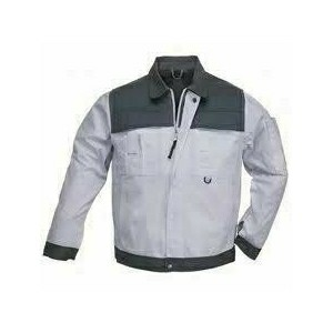 CLASS fehér/szürke kabát, cipzáras plusz patentos