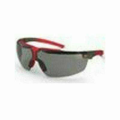 Uvex  I4 szemüveg szürke/piros keret, állítható szár