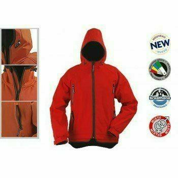 YIN női kabát - piros, cipzáras, kapucnis kabát, három rétegű