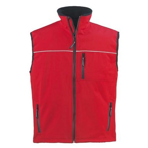 YANG piros mellény, háromrétegű, lélegző és vízhatlan softshell