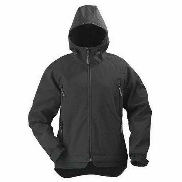 YIN női kabát - fekete softshell kabát