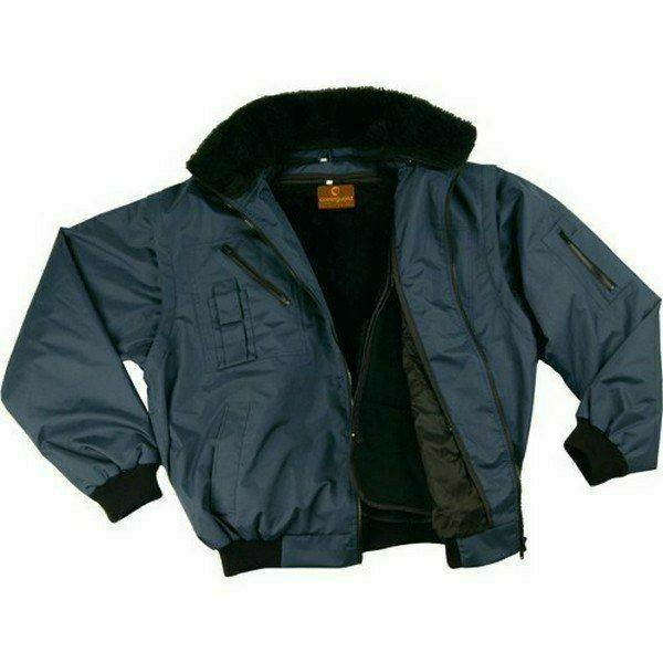 ZEF sötétkék 3/1 Pilóta dzseki kivehető műszőrme bélés
