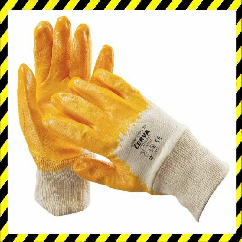 HARRIER Yellow Nitriles Kesztyű