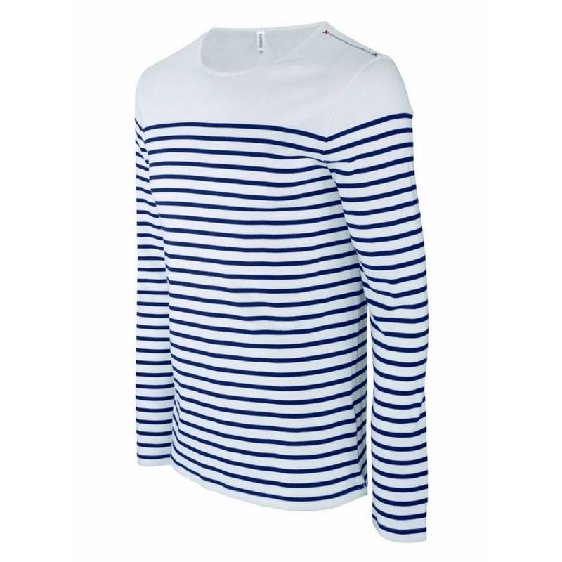 b395969ee1 kariban férfi hosszú ujjú tengerész póló / Csíkos Fehér