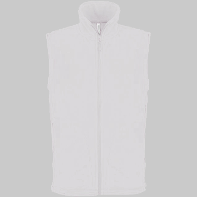 LUCA - ZIP THROUGH MICRO FLEECE GILET / fehér