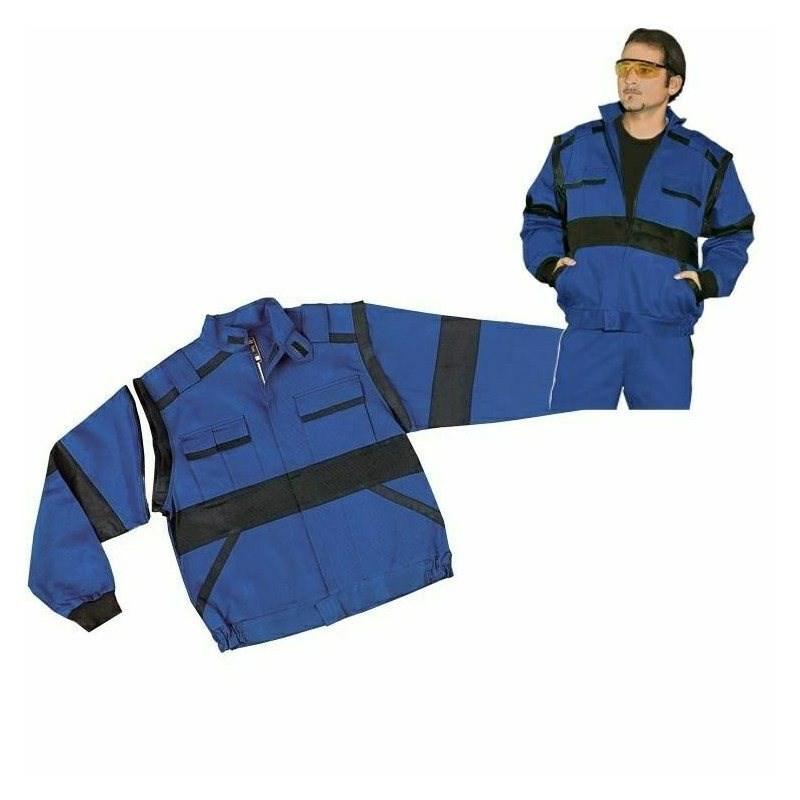 EDA kék/fekete kabát pamut, mellényé alakítható