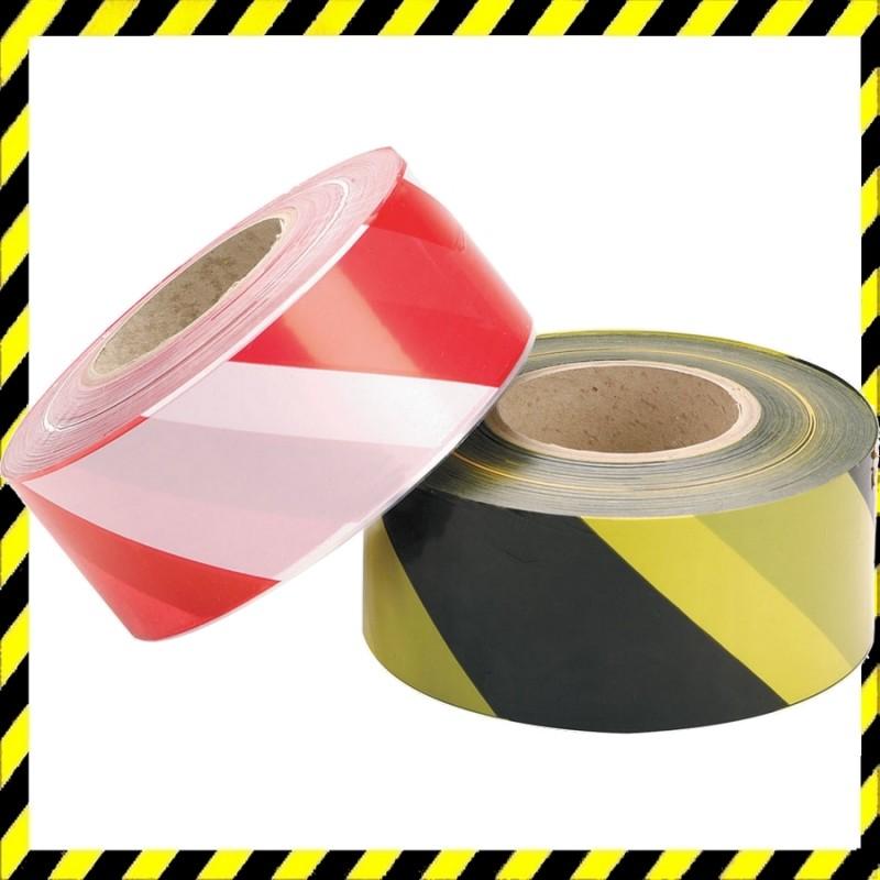 Figyelmeztető Jelzőszalag piros/fehér 50m