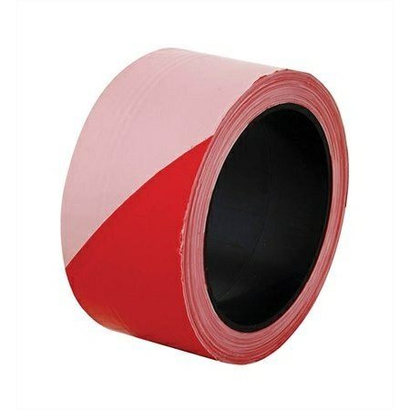 Közúti jelzőszalag, piros-fehér, 100 m hosszú, 5 cm széles