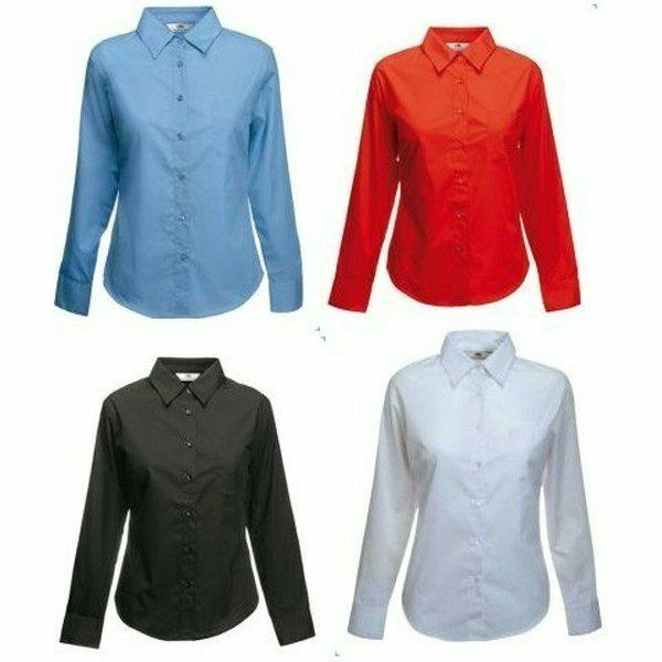 Fruit Lady-Fit Long Sleeve Poplin Shirt