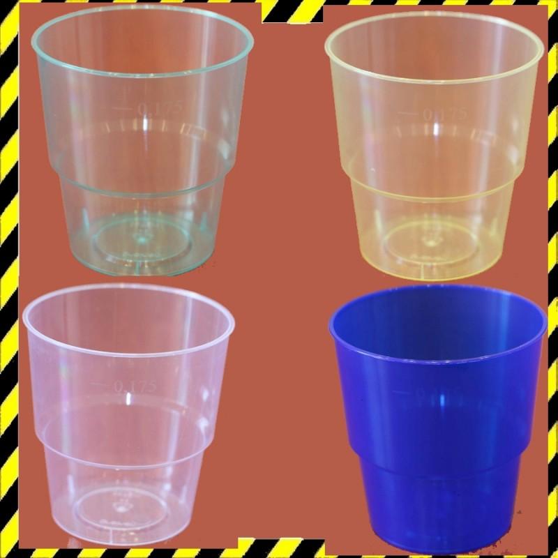 Műanyag pohár 1,75 dl Áttetsző
