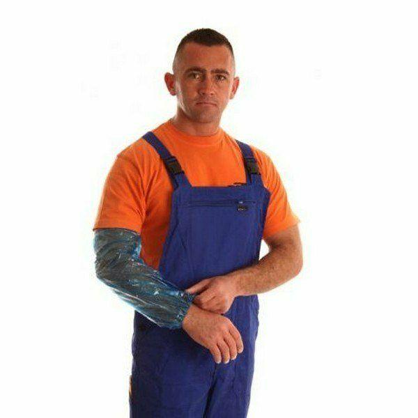 PE karvédő, kék, 18mic vastag, 100db/csomag