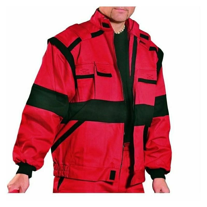EDA piros/fekete kabát pamut, mellényé alakítható