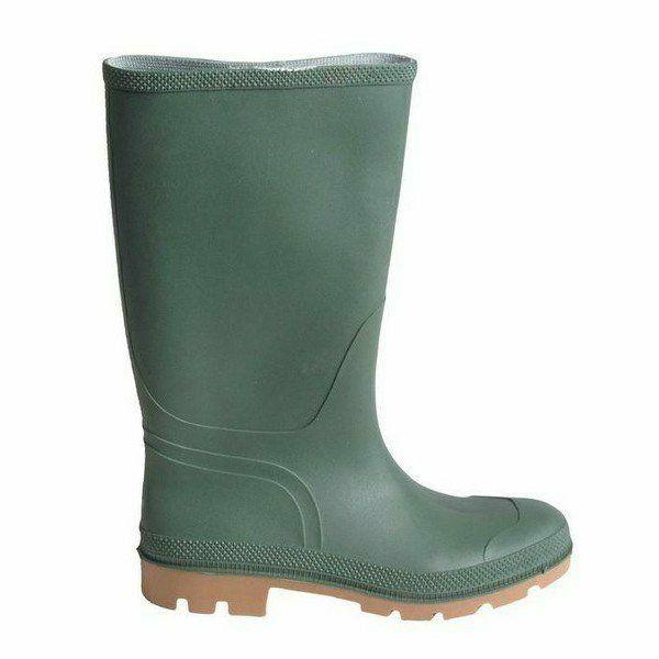 PVC-csizma zöld, eső, sár elleni csizma