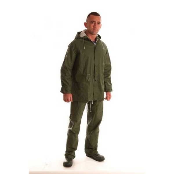 Zöld PVC öltöny (derekas nadrág + dzseki)