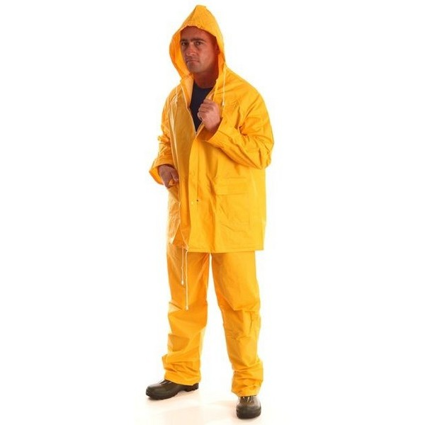 Sárga PVC öltöny (derekas nadrág + dzseki)