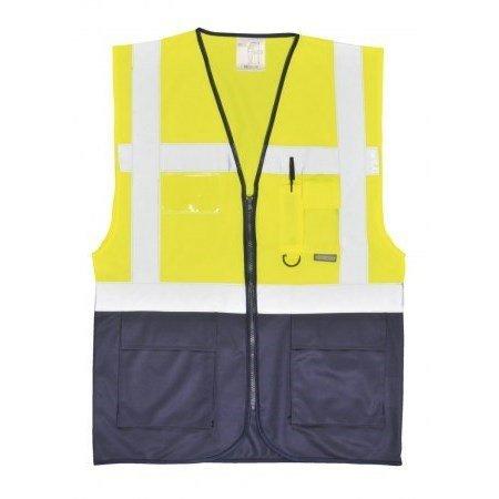 Vezetői mellény - Sárga/Navy