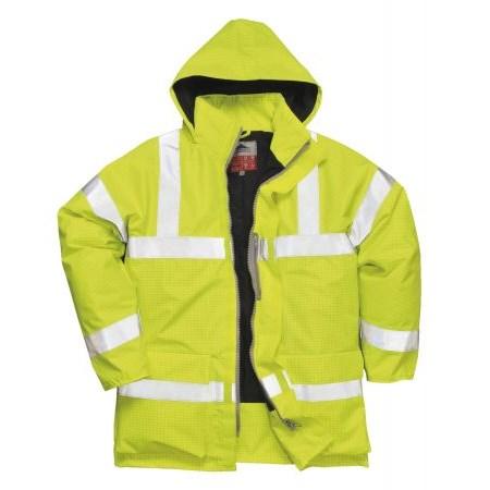 Antisztatikus és lángálló kabát sárga