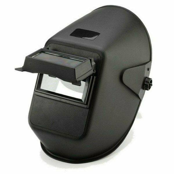 Hegesztő PP fejpajzs 110x90mm-es felhajtható látómezővel