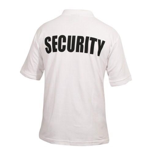 Biztonsági Őr póló - Security póló legolcsóbb fehér