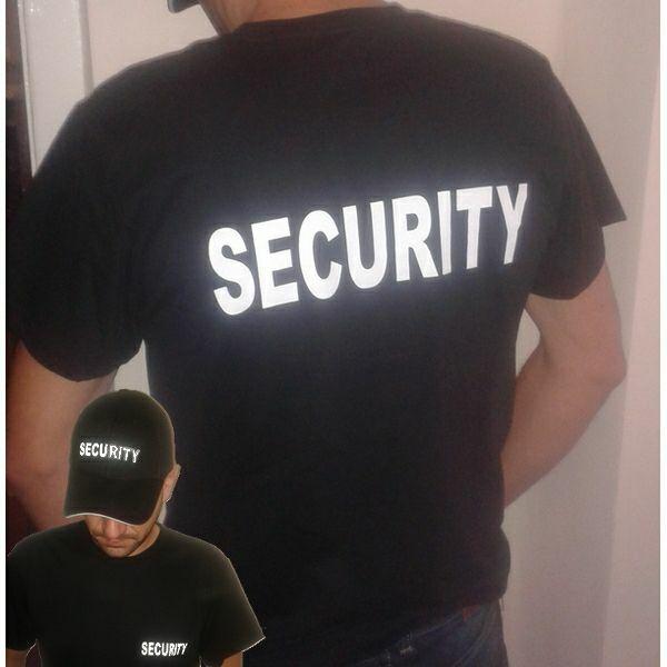 Biztonsági Őr póló - Security póló legolcsóbb Fekete