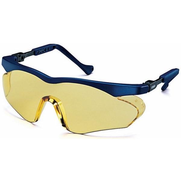 Skyper sx2 ütésálló, Uvex szemüveg, kék műanyag szár, állítható