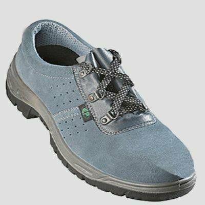 SUN (S1P) szürke velúrbőr cipő szellőző lukakkal, acéltalppal